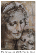 Madonna and Child (after Da Vinci) by Naj